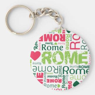 Porte - clé italien de souvernir de Rome Porte-clé Rond