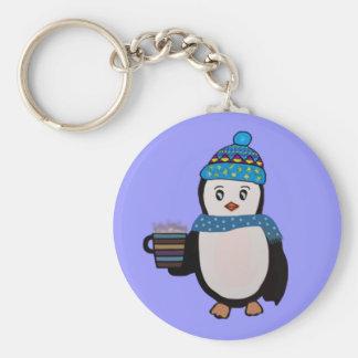 Porte - clé mignon de pingouin porte-clé rond