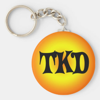 Porte - clé orange et jaune de TKD Porte-clés