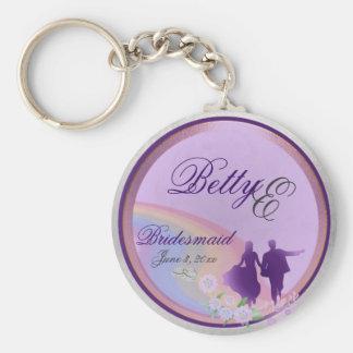 Porte - clé personnalisable de souvenir de porte-clé rond