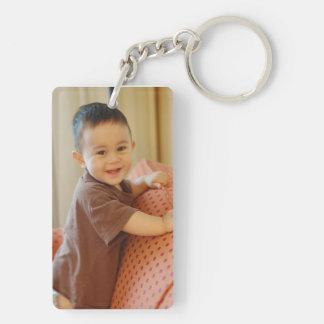 Porte - clé personnalisé de photo porte-clé rectangulaire en acrylique double face