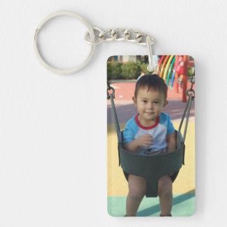 Porte - clé personnalisé de photo porte-clé  rectangulaire en acrylique une face