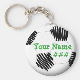 Porte - clé personnalisé du football porte-clé rond