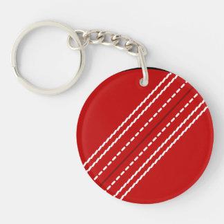 Porte - clé rond | de boule de cricket porte-clé rond en acrylique une face