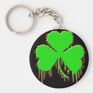Porte - clé sanglant de trèfle porte-clés