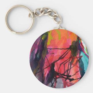 Porte-clefs avec texture artistique peinture de co