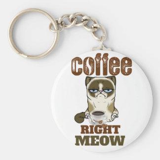 Porte-clés Coffee Right Meow