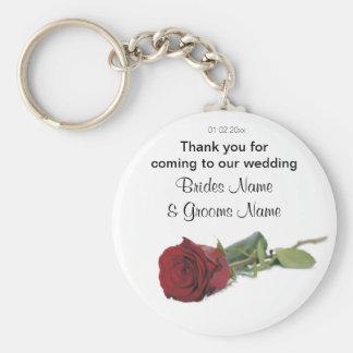 Porte-clés Dons de souvenirs de souvenirs de mariage de rose
