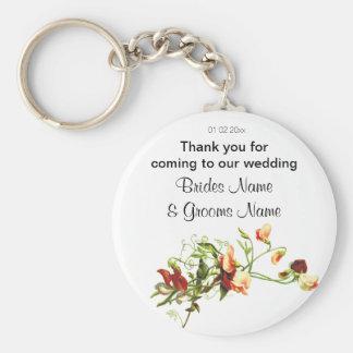 Porte-clés Fleurs sauvages épousant des dons de souvenirs de