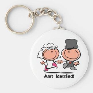 Porte-clés Juste marié épousant le porte - clé de bande