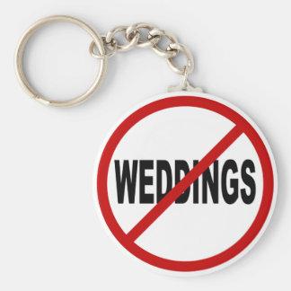 Porte-clés Mariages de la haine Weddings/No permis la