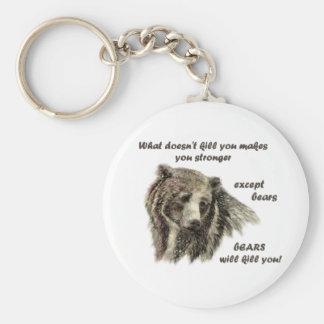 Porte-clés Mise à mort d'ours de Funny De Motivational Quote