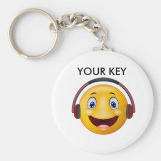 Porte-clés Musique de écoute heureuse