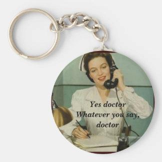 Porte-clés Oui docteur Funny Vintage Nurse