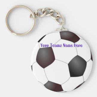 Porte - clés personnalisables d'équipe de porte-clé rond