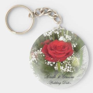 Porte-clés Porte - clé de faveur de mariage de rose rouge