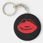 Porte-clés rouge de baiser