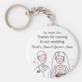 Porte-clés Souvenirs de mariage, cadeaux, dons pour des