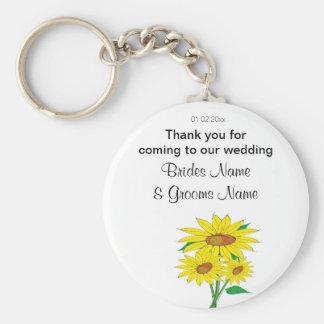 Porte-clés Tournesols épousant des dons de souvenirs de