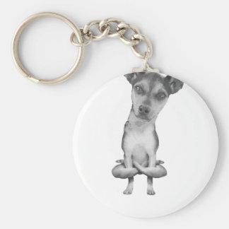 Porte-clés Yogi Doggie cute dog in yoga asana, cool funny