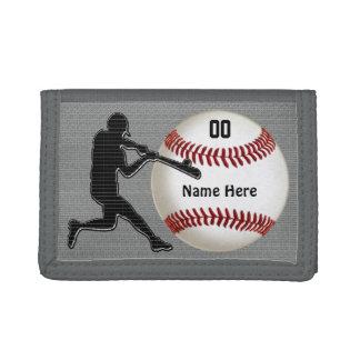 Portefeuilles personnalisés de base-ball pour des