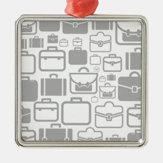 Portfolio a background Silver-Colored square ornament
