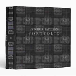 Portfolio Dark Industrial Tartan Album / Binder
