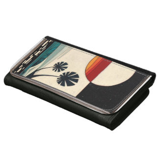 portfolio for multicoloured woman, much good wave! leather wallets