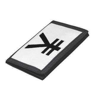 portfolio symbol yen trifold wallets