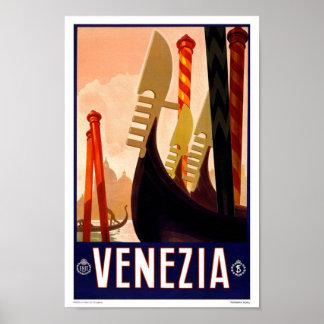 Portfolio-Vintage Venezia, Italy, Advertisment Poster