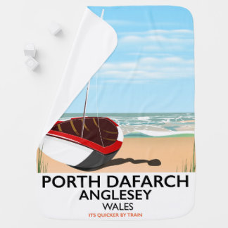 Porth Dafarch, Anglesey vintage travel poster Baby Blanket