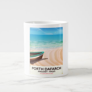 Porth Dafarch, Anglesey Welsh beach poster Large Coffee Mug