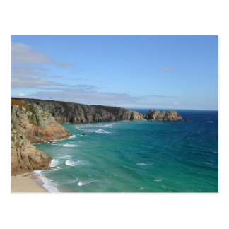 Porthcurno Bay and Logan Rock Headland - Cornwall Postcard
