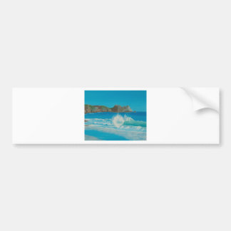 Porthcurno wave. bumper sticker