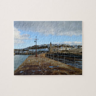 Porthleven Cornwall England in Winter Jigsaw Puzzle