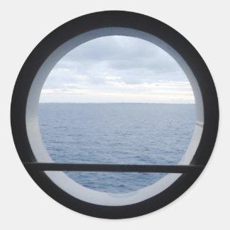 Porthole View Classic Round Sticker