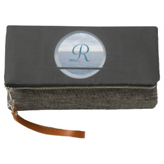 Porthole View Monogrammed Clutch