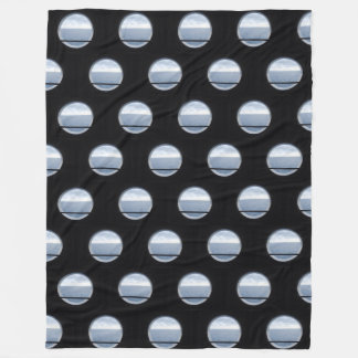 Porthole View Pattern Fleece Blanket