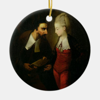 Portia and Shylock from 'The Merchant of Venice' A Ceramic Ornament