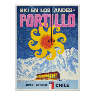 Portillo,Chile,Vintage Ski Poster