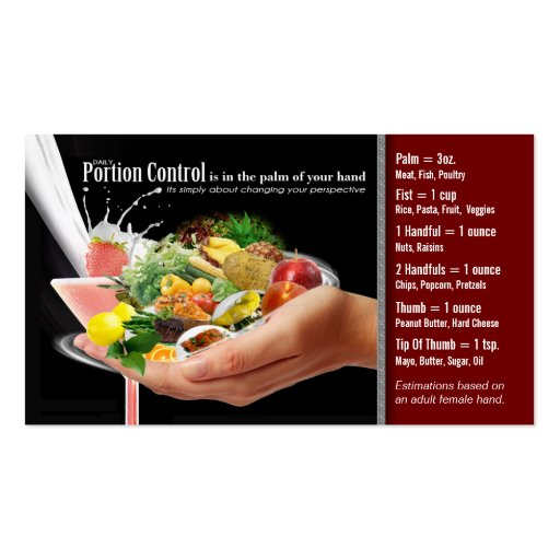 Portion Control Business Card