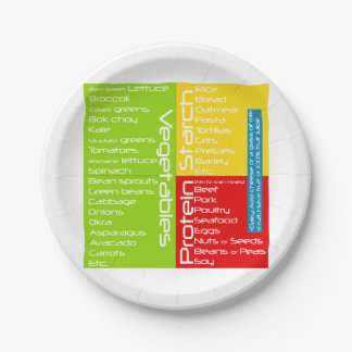 (Portion Control) Disposable Health Plate