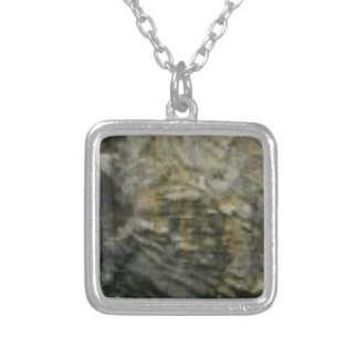 portion of the rock in stone silver plated necklace