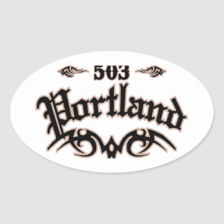 Portland 503 oval sticker