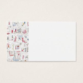 Portland-Abstract Art Pattern Business Card