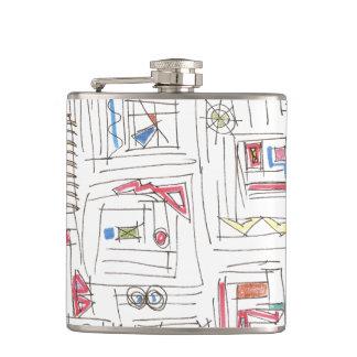 Portland-Abstract Art Print Flask