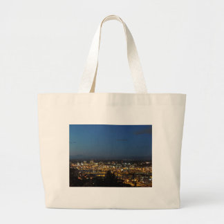 Portland at Dusk Large Tote Bag