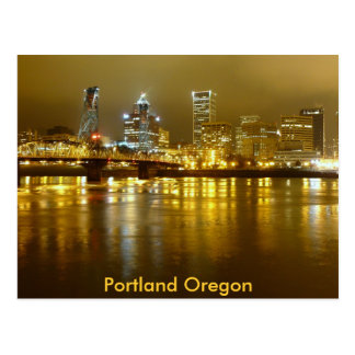 Portland at Night Postcard