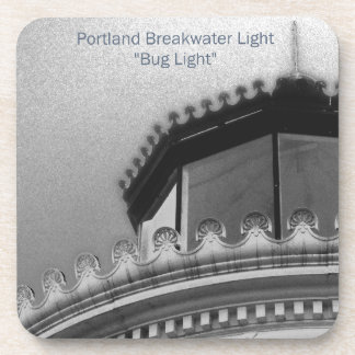 Portland Breakwater Light Maine Custom Coaster Set
