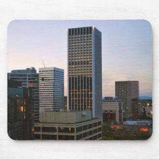 Portland City Skyline at Dusk Mouse Pad
